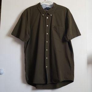Tommy Hilfiger Shirt Button Front Short Sleeve